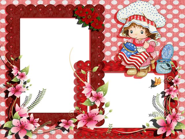 Marcos para fotos infantiles dibujos animados fondos - Colocar fotos en pared ...