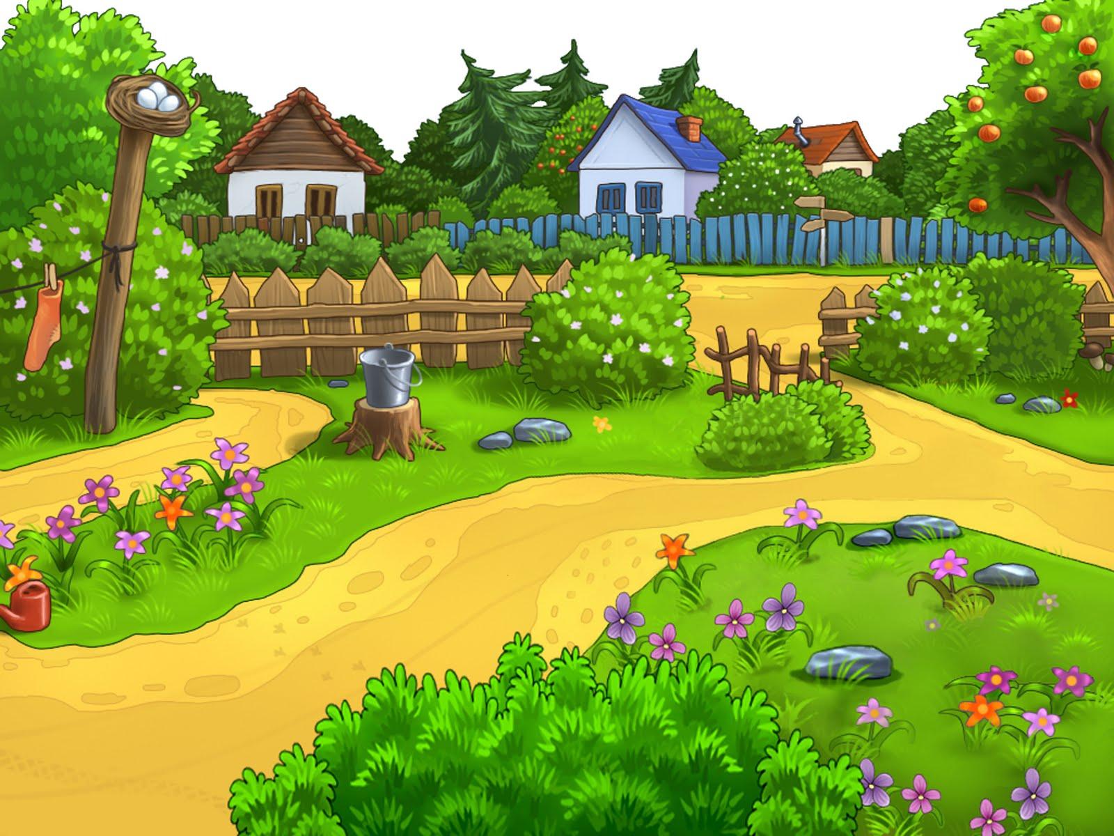 Fondos de dibujos infantiles fondos de pantalla y mucho m s for Un jardin con enanitos letra