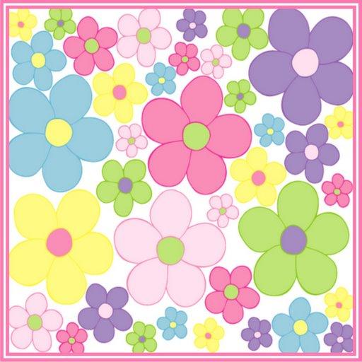 Fondo de flores y mariposas infantiles - Imagui
