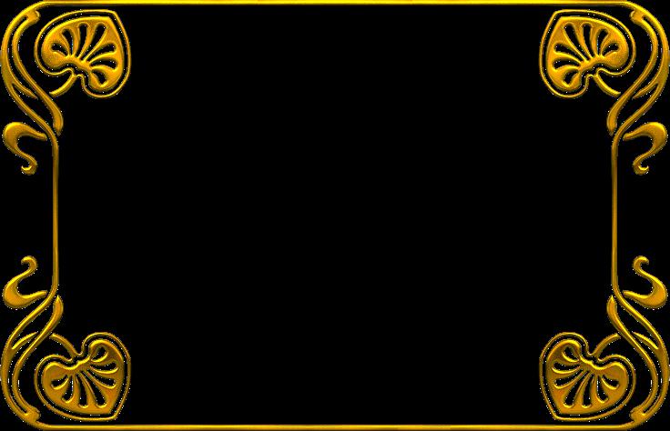 marcos para fotos dorados png