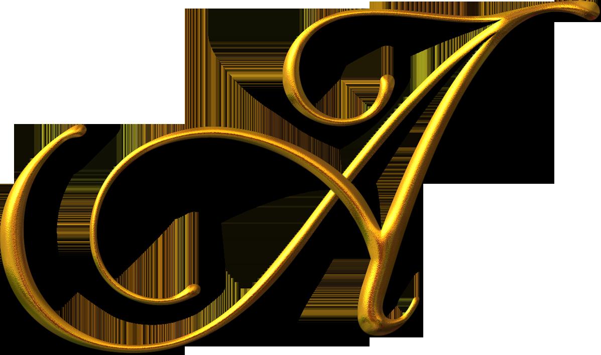 Color Letter O Gold Greek