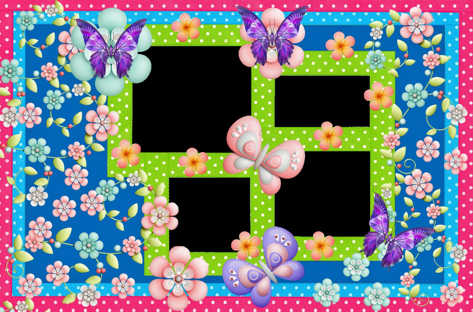 Marcos Para Fotos Con Flores Y Mariposas Fondos De Pantalla Y