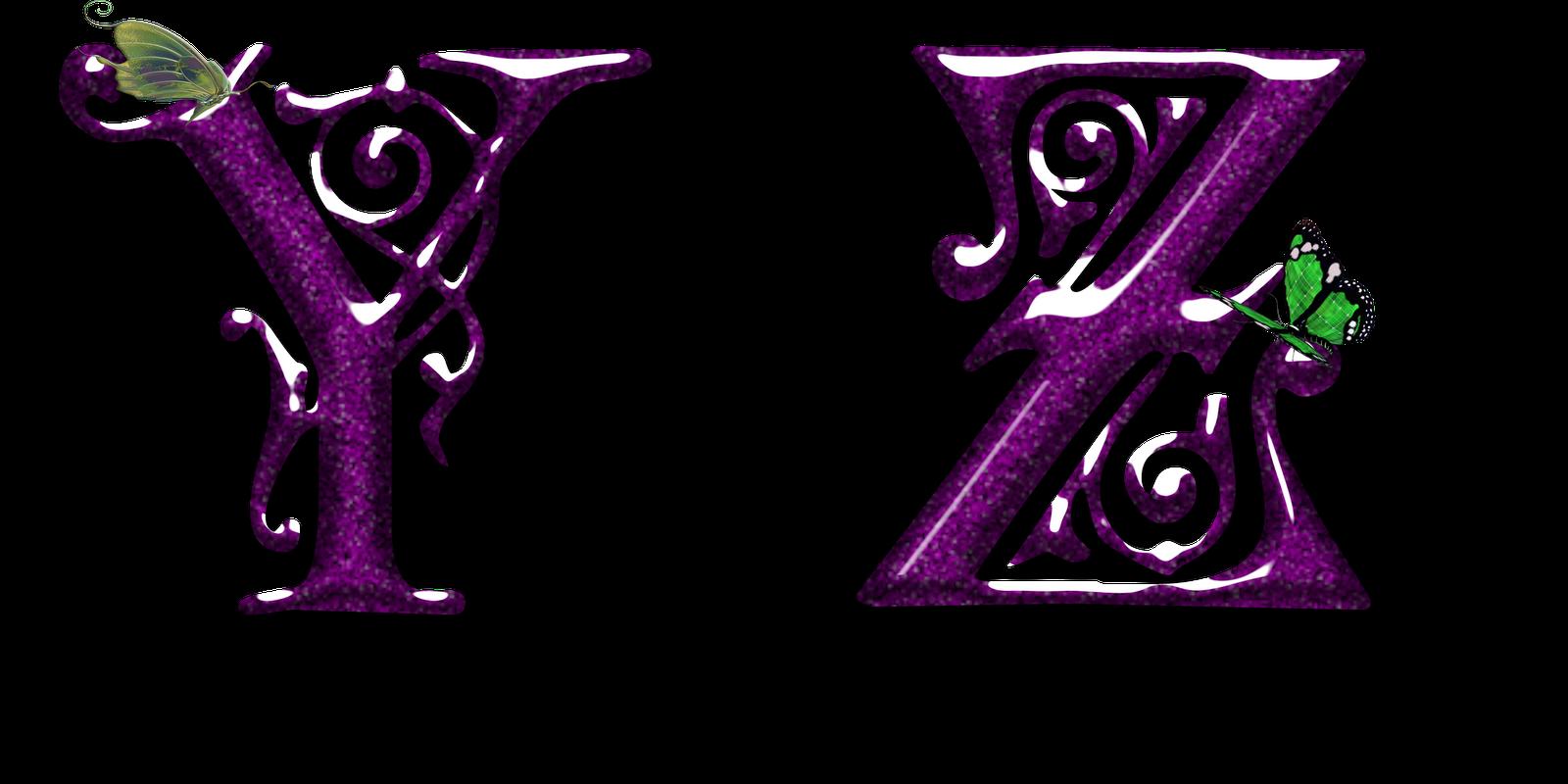 Alfabeto lila con mariposas PNG | Fondos de pantalla y mucho más