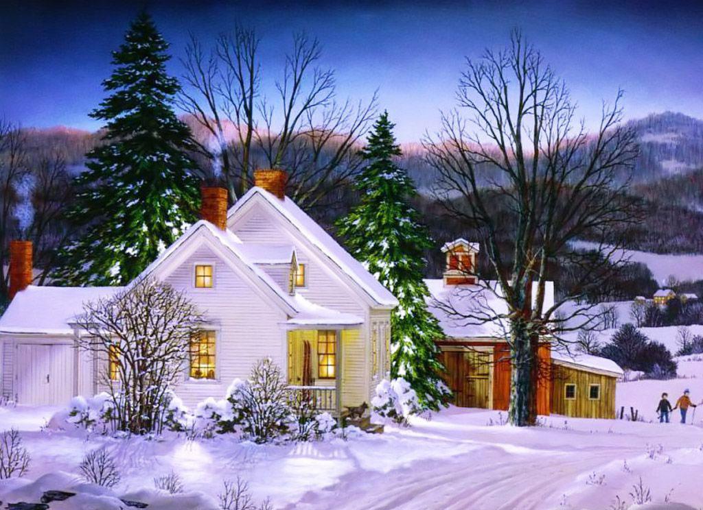 postales de paisajes de navidad