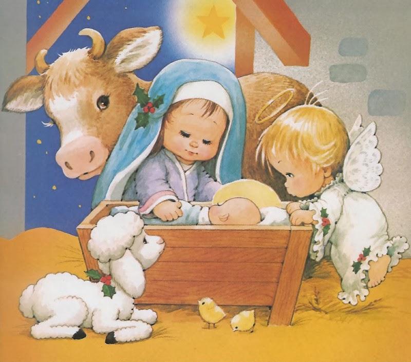 postales infantiles de navidad
