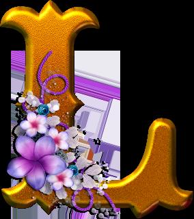 Alfabeto dorado con flores png fondos de pantalla y mucho m s - Figuras decorativas grandes ...